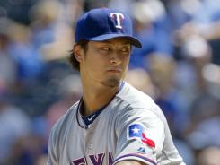 Rangers' Yu Darvish retired the first 17 batters he faced today.