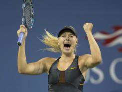 Maria Sharapova of Russia had the crowd on her side Sunday night during her victory against Nadia Petrova.