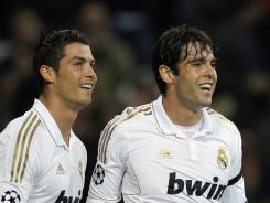 Cristiano Ronaldo, left, and Kaka, seen here in April, have had vastly different starts to the season as Real Madrid has struggled out of the gate.