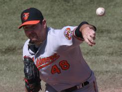Orioles' Joe Saunders retired the first 17 batters before Blue Jays' Adeiny Hechavarria lined a two-out single to center in the sixth inning.