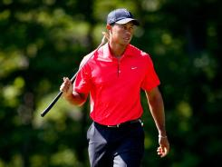 Tiger Woods would end up third Monday in the Deutsche Bank Championship, but his prize money check would lift him past $100 million in earnings.