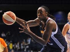 Center Tina Charles shot 10-for-18 and scored 20 points to lead the Sun past the Mystics for the ninth time in a row.