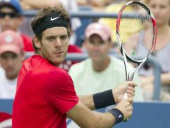 Juan Martin del Potro of Argentina gets his first shot at Arthur Ashe Stadium with a fourth-round match Tuesday against Andy Roddick.