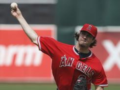 Angels starter Dan Haren gave up one run in six innings en route to his 10th win of the season.