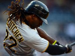 In the swing:  The Pirates' Andrew McCutchen, taking a cut Aug. 20 vs. the Padres, went 4-for-4 Tuesday to raise his average to an NL-leading .347.