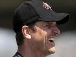 Niners coach Jim Harbaugh just saw his family roster grow by one.