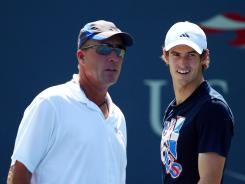 Andy Murray of Britain, right, and coach Ivan Lendl have clicked as a partnership this year.