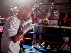 Andre Ward works out as he prepares to face Chad Dawson, who has dropped down to 168 pounds and will fight in Ward's hometown just so he can face a quality opponent.