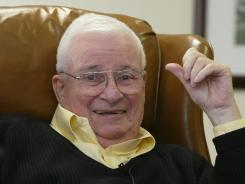 Art Modell, seen here in 2003, is in the hospital with failing organs, according to Cleveland TV station WKYC.