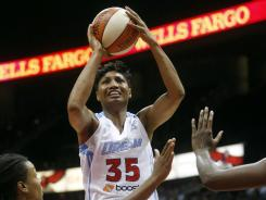 Atlanta Dream guard Angel McCoughtry, seen here on Sept. 2, scored 15 points off the bench.
