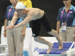 Navy lieutenant Brad Snyder, diving into the pool during the men's 400-meter freestyle, won his second gold of the Paralympic Games on Friday.