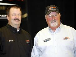 Tony Eury Sr., right, with son Tony Eury Jr. in 2009, spent 21 years at Dale Earnhardt Inc., leading Dale Earnhardt Jr. to the Nationwide titles in 1998 and 1999.
