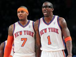 Carmelo Anthony (7) and Amar'e Stoudemire (1) remain, but the rest of the Knicks roster saw much turnover in the offseason.