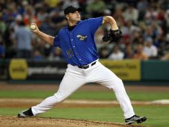 Roger Clemens pitched 4 2/3 scoreless innings in his second start for the Sugar Land Skeeters.