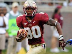 Florida State and wide receiver Rashad Greene ran all over Savannah State in a storm-shortened 55-0 victory.