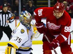 Detroit's Tomas Holmstrom has been one of the NHL's top net-front presences during his career.
