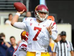 Matt Barkley threw six TD passes, but USC left the East Coast with several questions.