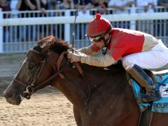 Bourbon Courage stormed back from as far back as eighth to win the Super Derby.