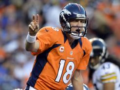 Peyton looked like the Manning of old, directing the Broncos to a season-opening win over the Steelers.