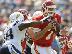 QB Matt Cassel and the Chiefs hope to even their record at 2-2 vs. the Chargers on Sunday.