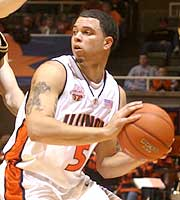 Illilnois' Deron Williams hopes to have a big game as he faces off with Wake Forest standout Chris Paul.