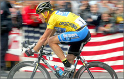 Lance Armstrong  shown en route to his seventh consecutive Tour de France title  has been a catalyst for cycling in the U.S. despite his retirement.