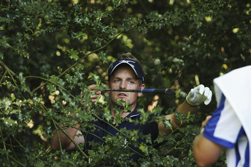 luke donald wife diane. England#39;s Luke Donald finds himself in the trees at the 17th hole during the final round