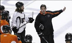 Forward Scott Hartnell, head coach Peter Laviolette and the Flyers face elimination in Game 6 of the Stanley Cup Final Wednesday night in Philadelphia.