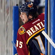 Dany Heatley had 13 goals and 12 assists last season after returning from injuries sustained in the crash that killed Snyder.