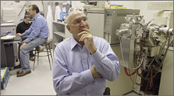 Don Catlin - shown at his laboratory in Los Angeles - is on a mission to catch drug cheats in sports.