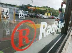 Radioshack opted for a defensive way to lay off workers Tuesday, sending notices out by e-mail.