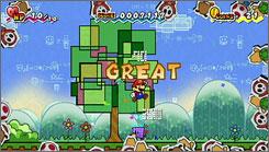 'Super Paper Mario' features both 2-D and 3-D visuals.