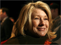 Martha Stewart at Fashion Week in New York in Feb.