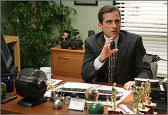 Steve Carell, who plays Michael Scott on the NBC show 'The Office,' created a Wikipedia frenzy when he used the website in a recent episode to attempt to foil an employee's desire to get a raise.