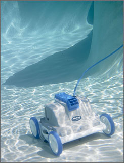 The iRobot Verro 300, one of two robot swimming pool cleaners the company manufactures. 