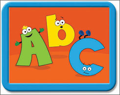 'Giggles Computer Funtime for Baby -- ABC's & 123's' encourages babies to touch or bang the keyboard.