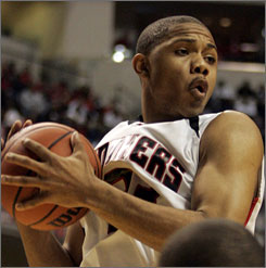Indianapolis North Central's Eric Gordon, Indiana's Mr. Basketball, originally committed to Illinois before signing with his home state Hoosiers. The switch set off nasty exchanges among bloggers.