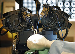 The University of Calgary unveiled the world's first MRI-compatible robot for brain surgery. The robot can perform surgeries that are too delicate for human hands.