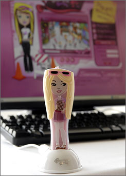 Mattel's new Barbie Girls MP3 player and website are targeted at 10-13 year old girls.