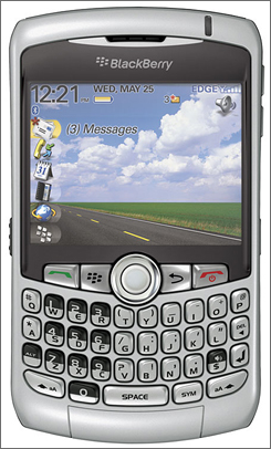 The BlackBerry Curve 8300.
