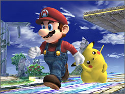 Mario, Pikachu and other Nintendo stars will hash it out in 'Super Smash Bros. Brawl.' No release date has been set.