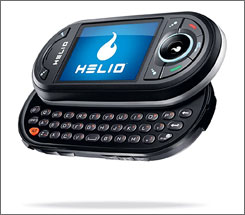 The Helio Ocean offers a keypad for phone functions and a keyboard for texting and Web surfing.