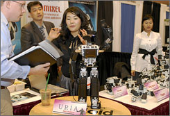 Bioloid, a robotics building kit created by Dynamixel, was on display at the Robotics Convention in Boston this month, which featured the latest in robotic technology.