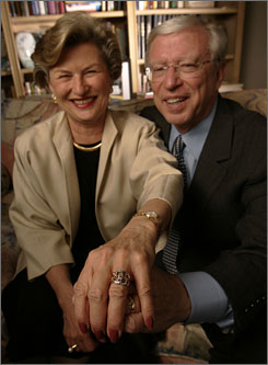Neil Clark Warren, founder of matchmaking service eHarmony, and his wife Marylyn.