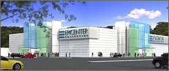 This artist rendering shows how the store might look when it opens in the summer of 2008 in the Christiana Mall in Newark, Del. Epicenter hopes to cater to consumers queasy about buying products online without seeing them in person.