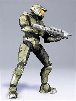 The Master Chief action figure for Halo 3 from McFarlane Toys.