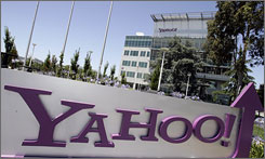 The exterior of Yahoo headquarters in Sunnyvale, Calif.