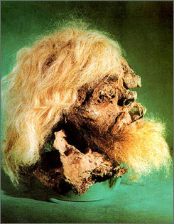 Satyr? A man's body, naturally mummified within an ancient salt mine, was found in a salt mine outside the Iranian city of Zanjan.