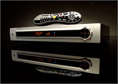 The Tivo Series3 HD with remote, which debuted at $800. TiVo will start selling a $299.99 HD DVR model later this year.