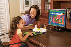 Fisher-Price's Easy Link Internet Launch Pad plugs into your computer and locks kids into age-appropriate activities while keeping them out of your files.